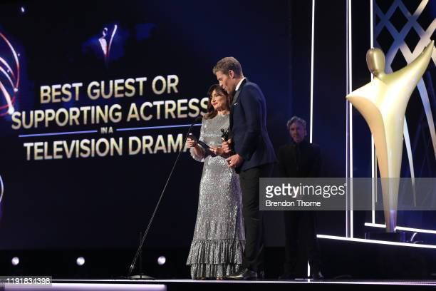 Essie Davis and Chris Brown during the 2019 AACTA Awards Presented by Foxtel at The Star on December 04 2019 in Sydney Australia