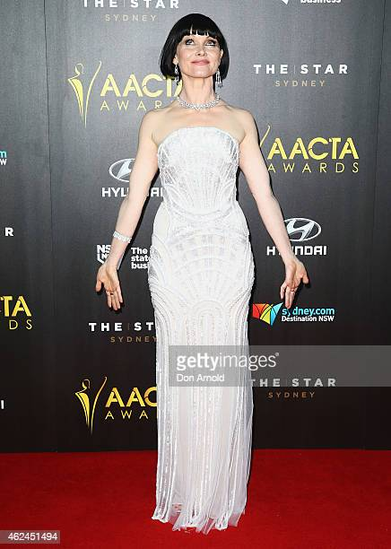 Essie Davis arrives at the 4th AACTA Awards Ceremony at The Star on January 29 2015 in Sydney Australia