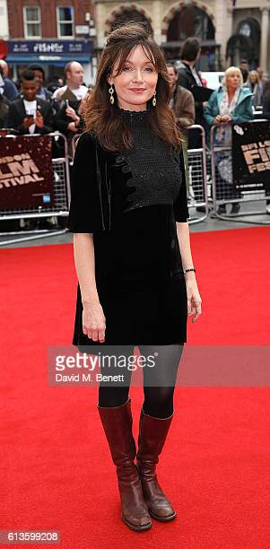 Essie Davis attends the 'Mindhorn' World Premiere screening during the 60th BFI London Film Festival at Odeon Leicester Square on October 9, 2016 in...