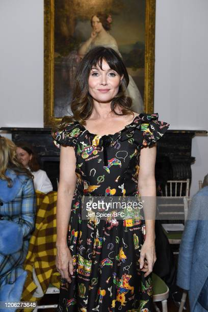 Essie Davis attends the Shrimps show during London Fashion Week February 2020 on February 14 2020 in London England