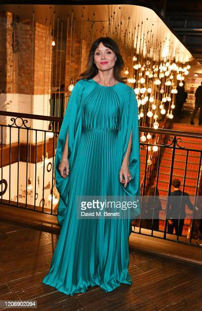 """Essie Davis attends the UK Premiere of """"True History Of The Kelly Gang"""" at the Picturehouse Central on February 17, 2020 in London, England."""