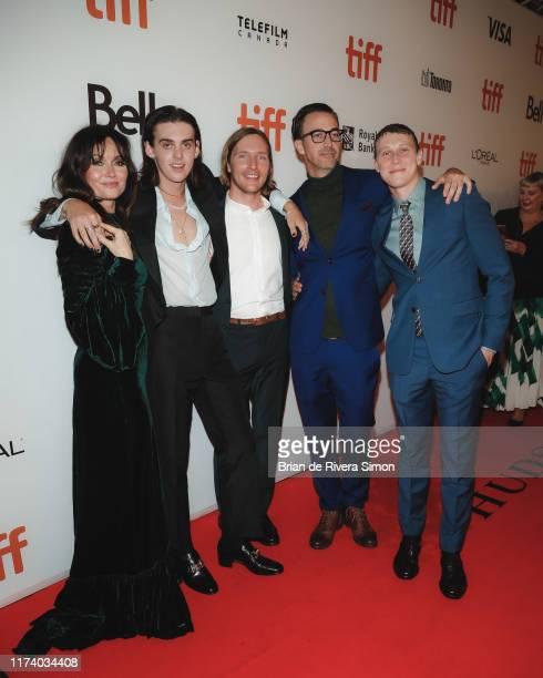 Essie Davis Earl Cave Sean Keenan Shaun Grant and George MacKay attend True History Of Kelly Gang Premiere during the 2019 Toronto International Film...
