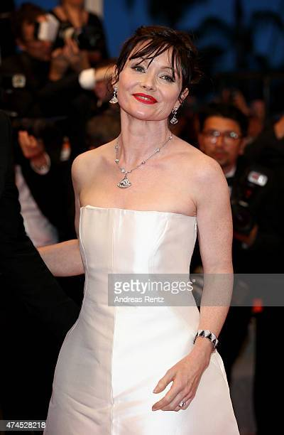 Essie Davis leaves the Premiere of Valley Of Love during the 68th annual Cannes Film Festival on May 23 2015 in Cannes France