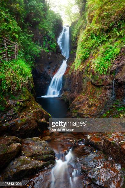 ess-na-crub, waterfall, glenariff forest, county antrim, northern ireland - waterfall stock pictures, royalty-free photos & images