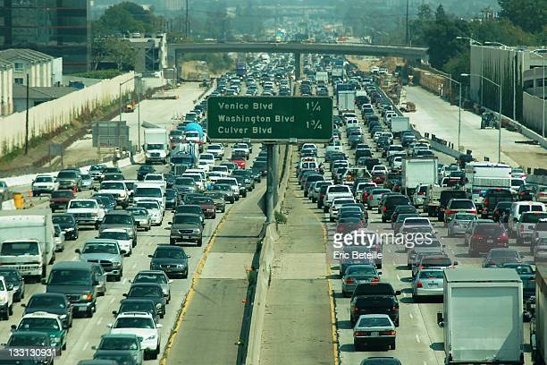 establishing shot: the 405 - highway 405 stock photos and pictures