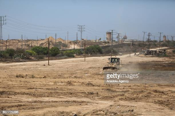 Establishment of the 100 meters wide buffer zone along the Egyptian border continues to heighten control measure in Gaza City Gaza on June 28 2017