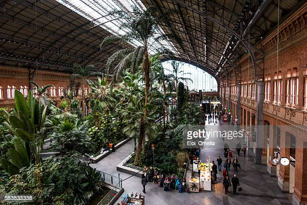 estacion de atocha train station horizontal inside hall