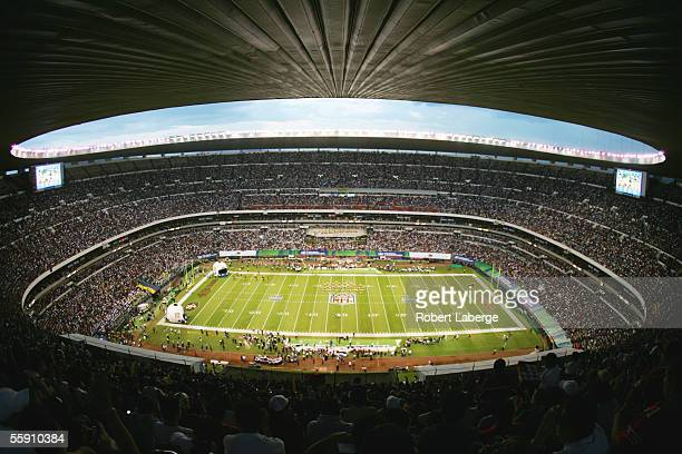 Estadio Azteca is shown during the Arizona Cardinals game against the San Francisco 49ers on October 2 2005 in Mexico City Mexico The Cards defeated...