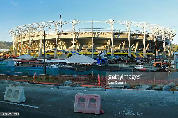 Estadio Municipal de Concepción Alcaldesa Ester Roa Rebolledo is seen during restoration prior to Copa America Chile 2015 at Concepcion Chile on...