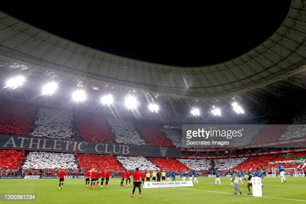 Estadio San Mames during the Spanish Copa del Rey match between Athletic de Bilbao v Granada at the Estadio San Mames on February 12 2020 in Bilbao...