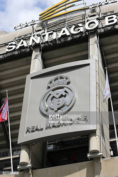 Estadio Santiago Bernabeu pictured prior to the UEFA Champions League Semifinal second leg match between Real Madrid and Borussia Dortmund at the at...