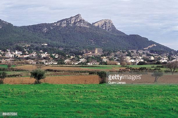 Estartit Panoramic view of Estartit to the botton is the Muara Rock Gerona province