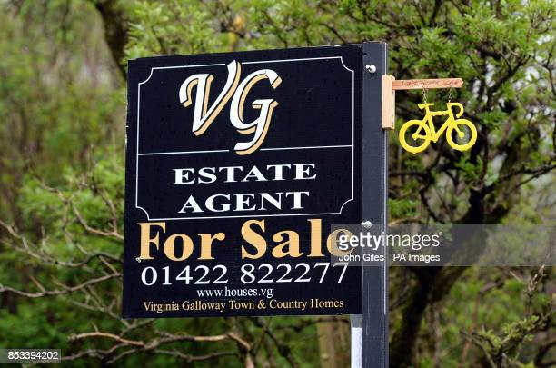 Estate agents advertise a house in Yorkshire where the Tour de France will pass through this summer as home owners are expecting property values to...