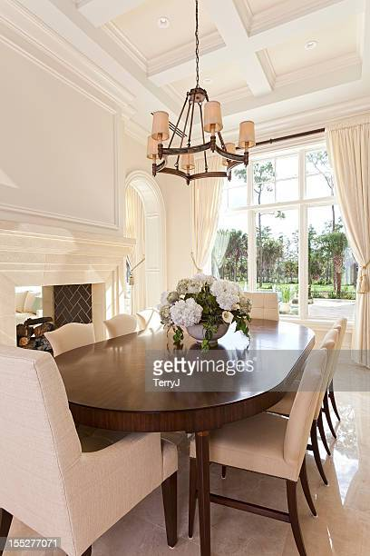 estate dining - dining room stock pictures, royalty-free photos & images
