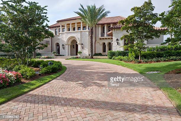 estate living - paving stone stock pictures, royalty-free photos & images