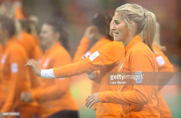 Estavana Polman of Netherlands is seen during the Womens Preliminary Group A match between Norway and Angola at Future Arena on August 10, 2016 in...