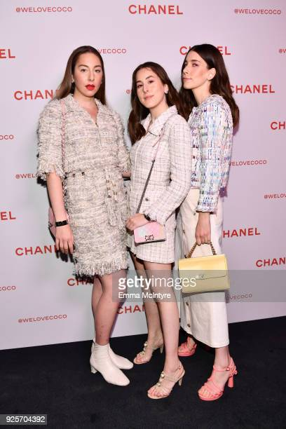 Este Haim Alana Haim aand Danielle Haim of HAIM all wearing Chanel attend a Chanel Party to celebrate the Chanel Beauty House and @WELOVECOCO at...