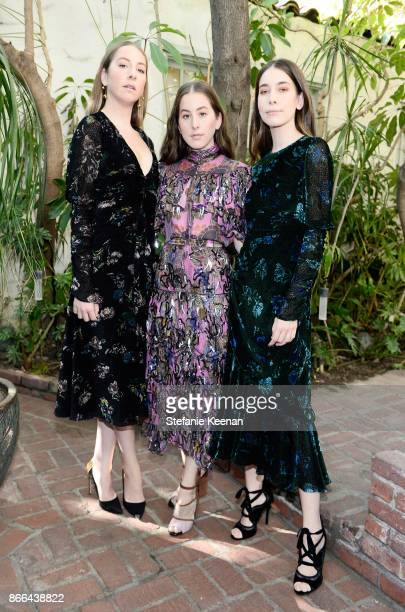 Este Haim Alana Haim and Danielle Haim attend CFDA/Vogue Fashion Fund Show and Tea at Chateau Marmont at Chateau Marmont on October 25 2017 in Los...