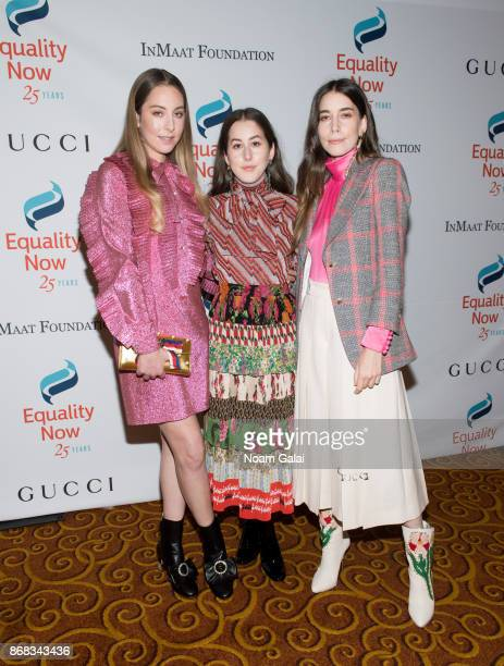 Este Haim Alana Haim and Danielle Haim of HAIM attend the 2017 Equality Now Gala at Gotham Hall on October 30 2017 in New York City