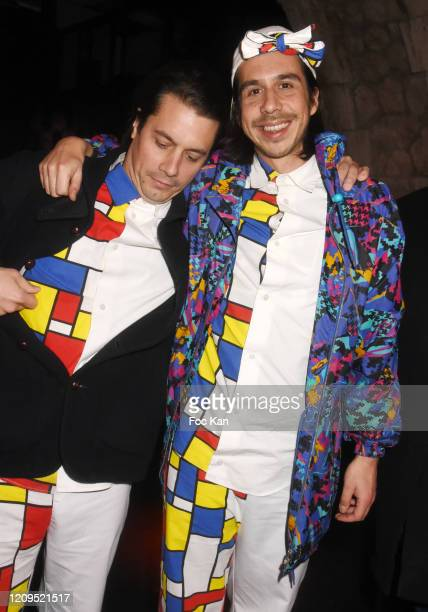Esteban aka David Boring and a musician of Naive New Beaters Band attend the Cesar Film Awards 2020 Party At Le Bridge Club on February 29 2020 in...