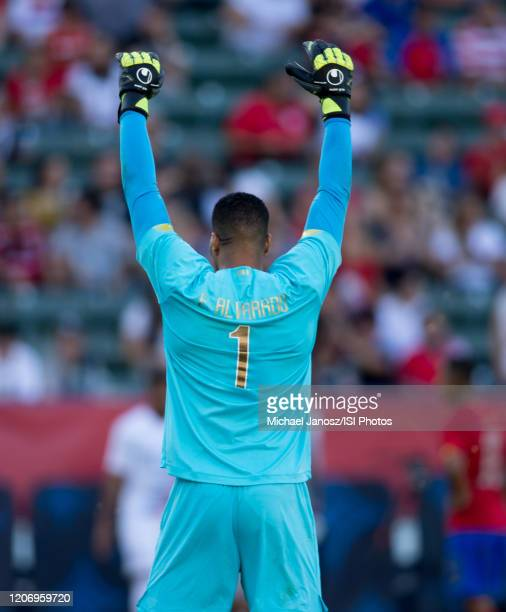 Esteban Alvarado GK of Costa Rica during a game between Costa Rica and USMNT at Dignity Health Sports Park on February 1 2020 in Carson California