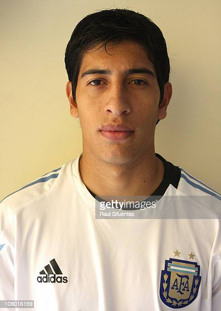 Esteban Andrada from Argentina poses during a portraits session during the South American U20 Championship on February 11 2011 in Arequipa Perú