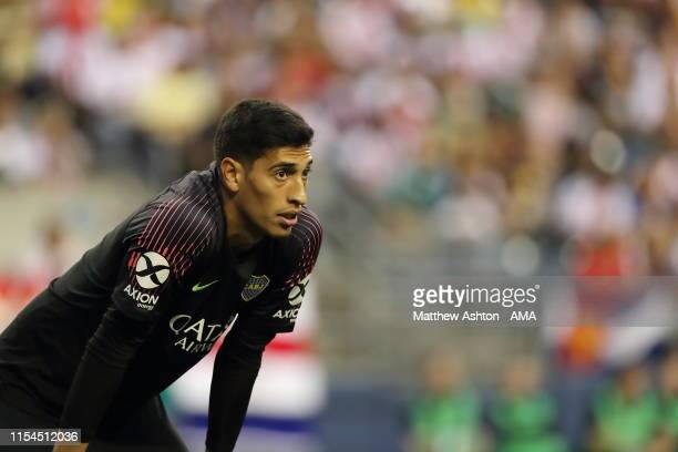 Esteban Andrada of Boca Juniors during a friendly match between Club Deportivo Guadalajara and Boca Juniors as part of the Colossus Cup 2019 at...