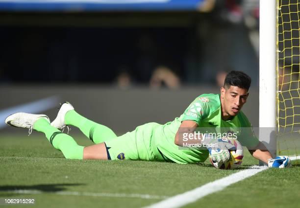 Esteban Andrada of Boca Juniors in action prior toa match between Boca Juniors and Patronato as part of Superliga 2018/19 at Estadio Alberto J...