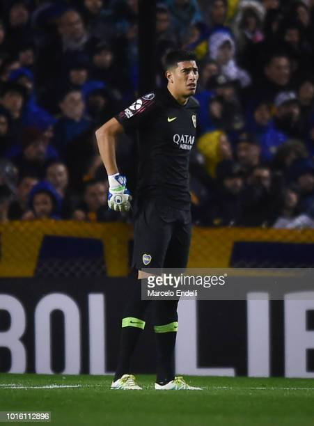 Esteban Andrada of Boca Juniors looks on during a round of sixteen first leg match between Boca Juniors and Libertad as part of Copa CONMEBOL...