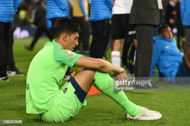 Esteban Andrada of Boca Juniors reacts after losing against River Plate in the second leg of the final match of Copa CONMEBOL Libertadores 2018...