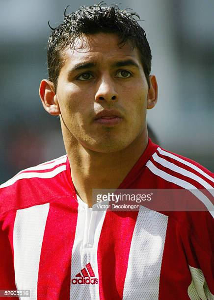 Esteban Arias of Chivas USA looks on after their Major League Soccer match loss against DC United on April 2 2005 at the Home Depot Center in Carson...