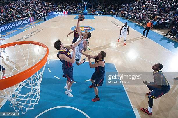 Esteban Batista, #15 of Panathinaikos Athens in action during the Euroleague Basketball Top 16 Date 2 game between FC Barcelona v Panathinaikos...