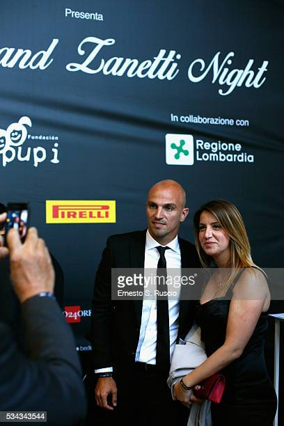Esteban Cambiasso and Claudia Cambiasso attend Bocelli and Zanetti Night on May 25 2016 in Rho Italy