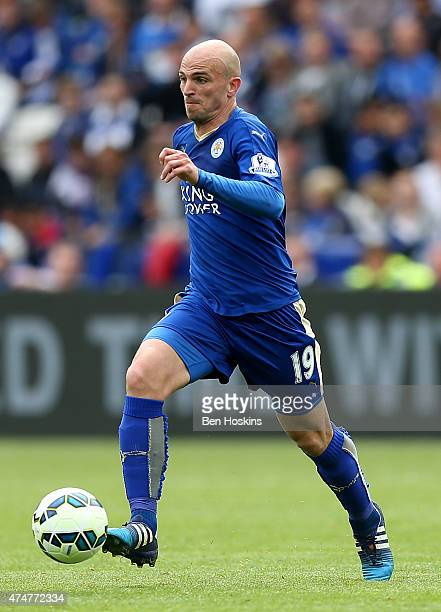 Esteban Cambiasso of Leicester in action during the Premier League match between Leicester City and Queens Park Rangers at The King Power Stadium on...