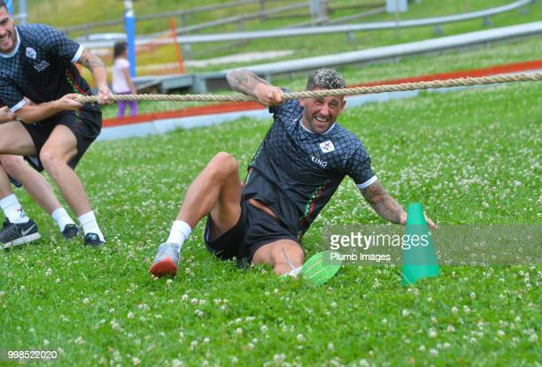Esteban Casagolda during team bonding activities during the OHL Leuven training session on July 09 2018 in Maribor Slovenia