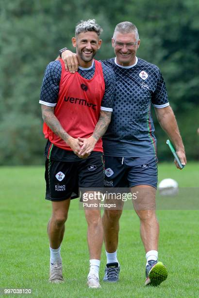Esteban Casagolda with OH Leuven Manager Nigel Pearson during the OH Leuven PreSeason Training Camp on July 12 2018 in Maribor Slovenia