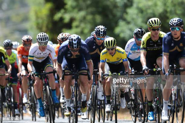 Esteban Chaves of Columbia and the MitcheltonScott Team rides in the Jayco Herald Sun Tour stage 4 1521km road race 5 x 311km laps on February 4 2018...