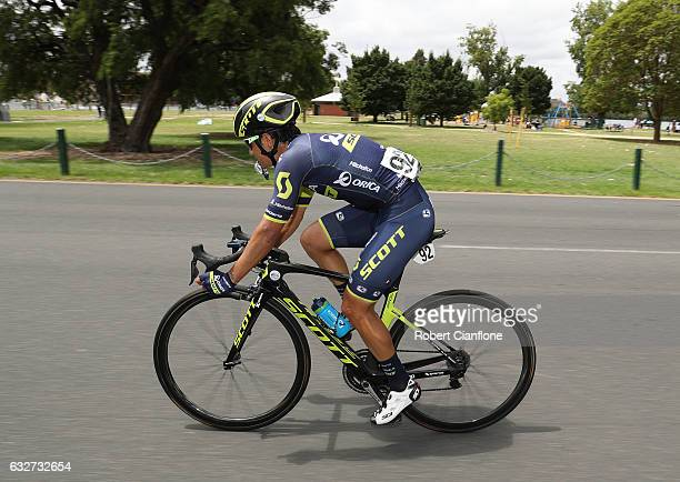 Esteban Chaves Rubio of Colombia rides during the 2017 Cadel Evans Great Ocean Road Race on January 26 2017 in Melbourne Australia