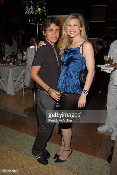 Esteban Cortazar and Suzy Buckley attend Champagne Perrier Jouet 1998 Fleur de Champagne Dinner hosted by Esteban Cortazar at The Raleigh Hotel on...
