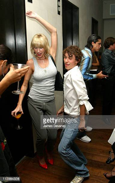 Esteban Cortazar during The Chambers Hotel hosts party for 18yearold Esteban Cortazar the youngest designer ever to show at the New York's Fashion...