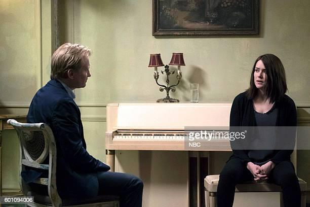 THE BLACKLIST Esteban Episode 401 Pictured Ulrich Thomsen as Alexander Kirk Megan Boone as Elizabeth Keen