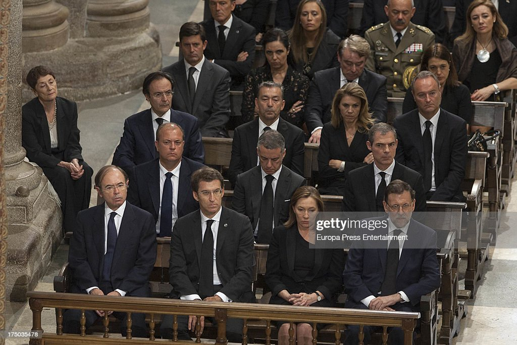 Spanish Royals Attend Funeral For 78 Killed By Train Crash In Santiago de Compostela - July 29, 2013
