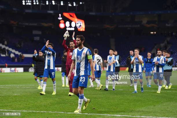 Esteban Granero of Espanyol reacts during the UEFA Europa League group H match between Espanyol Barcelona and PFC Ludogorets Razgrad at the RCDE...