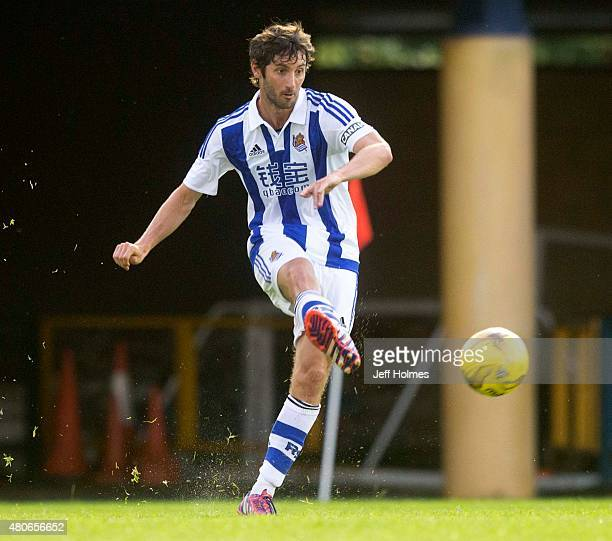 Esteban Granero of of Real Sociedad in action at the Pre Season Friendly between Livingston and Real Sociedad at the City Stadium on July 13th 2015...