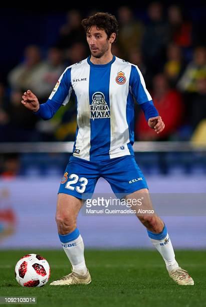 Esteban Granero of RCD Espanyol in action during the Copa del Rey Round of 16 first leg match between Vllarreal CF and RCD Espanyol at Estadio de la...