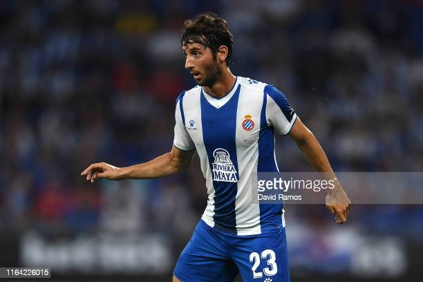Esteban Granero of RCD Espanyol looks on during the UEFA Europa League Second Qualifying round 1st leg match between RCD Espanyol and Stjarnan at...