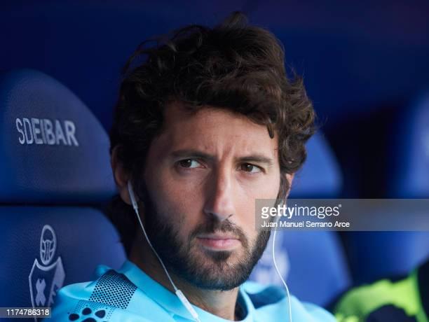 Esteban Granero of RCD Espanyol looks on prior to the La Liga match between SD Eibar SAD and RCD Espanyol at Ipurua Municipal Stadium on September 15...