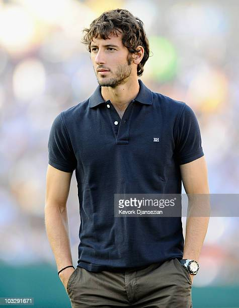 Esteban Granero of Real Madrid during arrives for the preseason friendly soccer match against Los Angeles Galaxy on August 7 2010 at the Rose Bowl in...