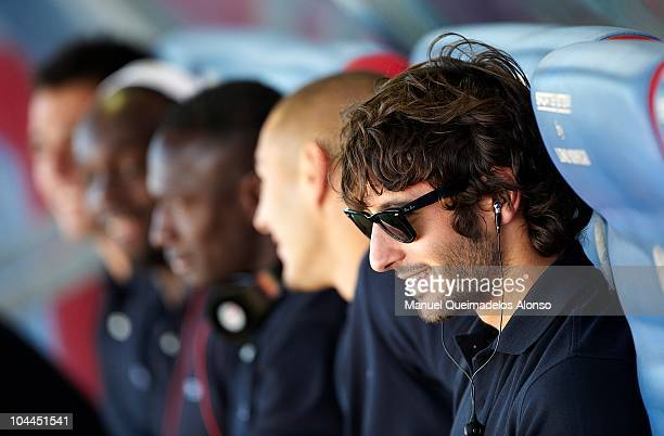 Esteban Granero of Real Madrid looks on before the La Liga match between Levante UD and Real Madrid at Ciutat de Valencia on September 25 2010 in...