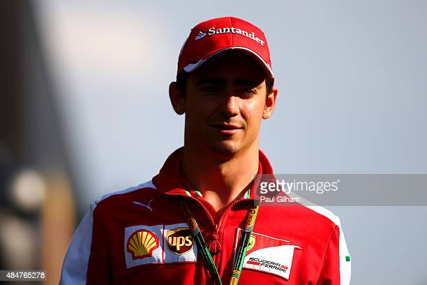 Esteban Gutierrez of Mexico and Ferrari walks in the paddock after practice for the Formula One Grand Prix of Belgium at Circuit de SpaFrancorchamps...